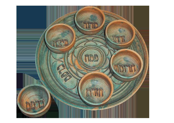 Stone Patina Seder Plate
