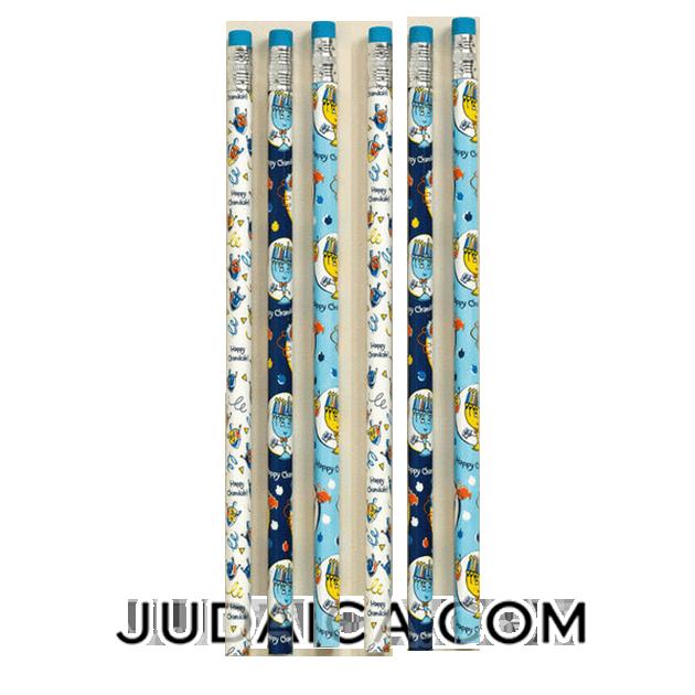 Hanukkah Pencils- Set of 6