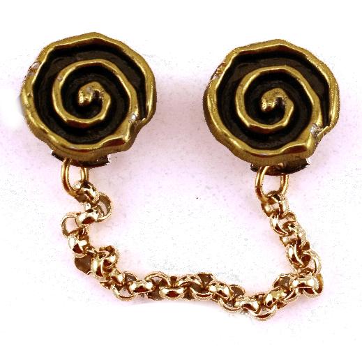 Spiral Brass Tallit Clips