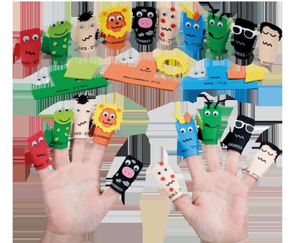 Ten Plagues Foam Finger Puppet Kit