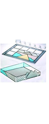 Glass Gray Exodus Seder Set