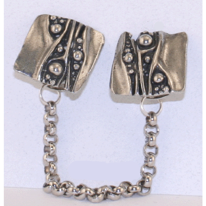 Waterfall Pewter Tallit Clips