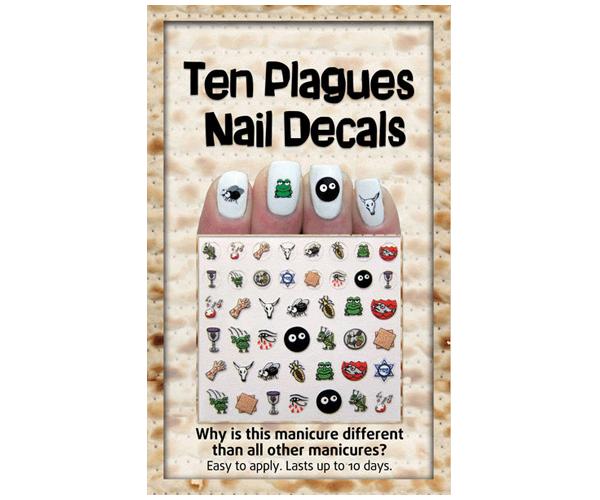 Ten Plagues Nail Decals - Passover Nail Art!