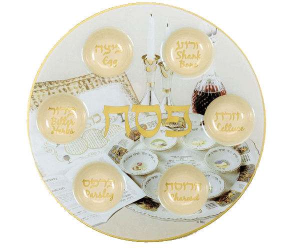 Glass Yellow Seder Plate