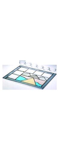 Glass Gray Exodus Seder Plate by Susan Fullenbaum