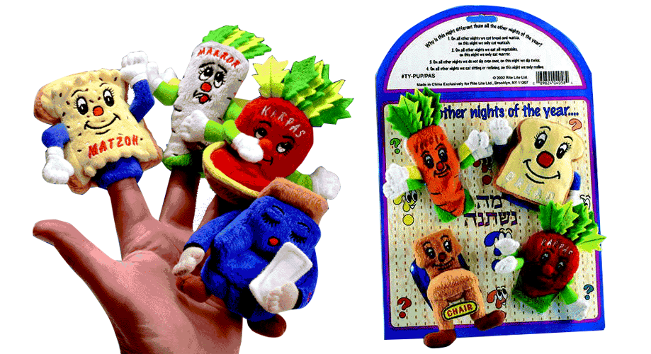 4 Questions Finger Puppets - Reversible!