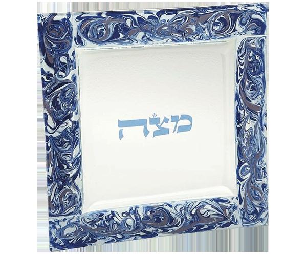 Marbled Grape Matzah Plate