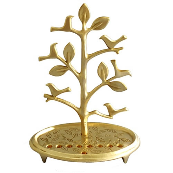 Golden Tree of Life Menorah