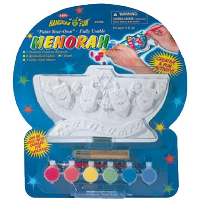 Paint Your Own Menorah