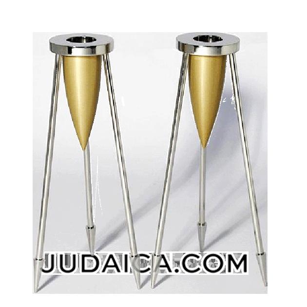Gold Rocket Candlesticks