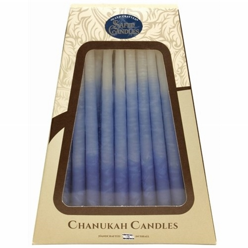 Blue Deluxe Handcrafted Hanukkah Candles