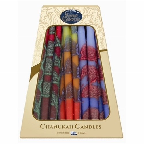 Premium Handcrafted Hanukkah Candles - Multicolor
