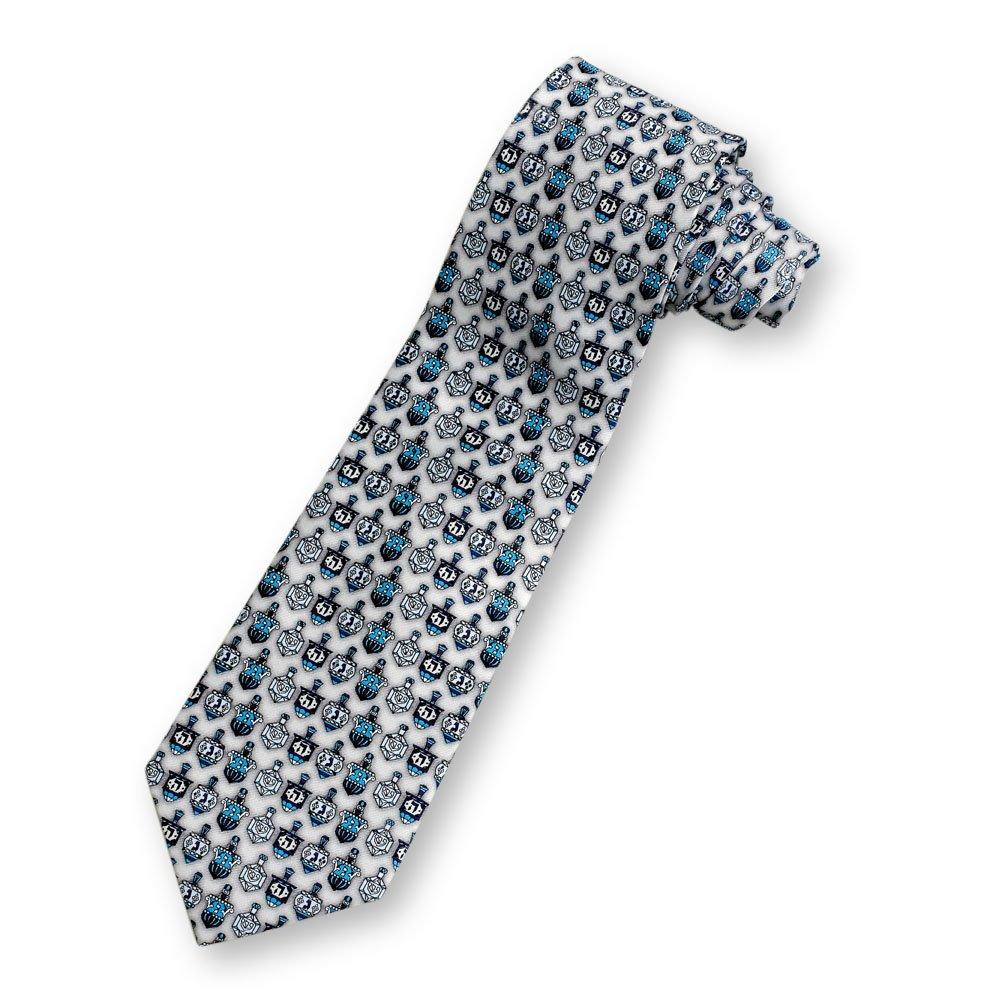 Designer Dreidels Silk Chanukah Necktie
