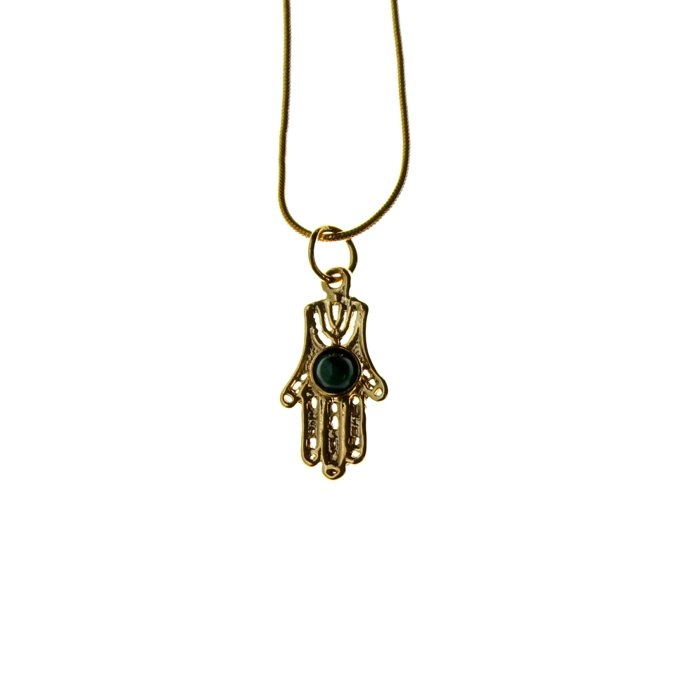 jewelry lucky gold over evil dp small hamsa hand silver tzaro solid eye of protection fatima sterling necklace pendant