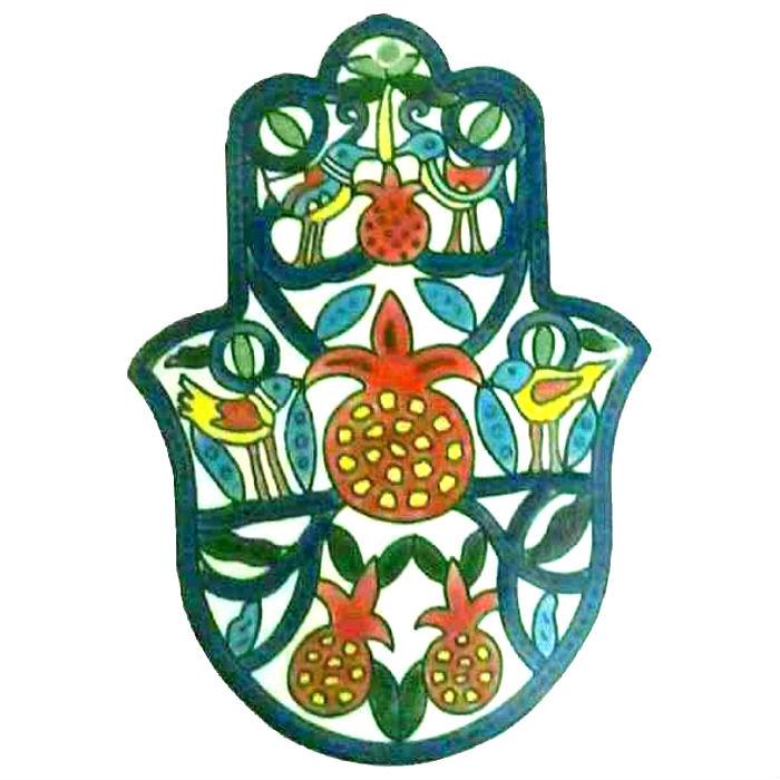Armenian Pomegranate Hamsa Wall Art Judaica