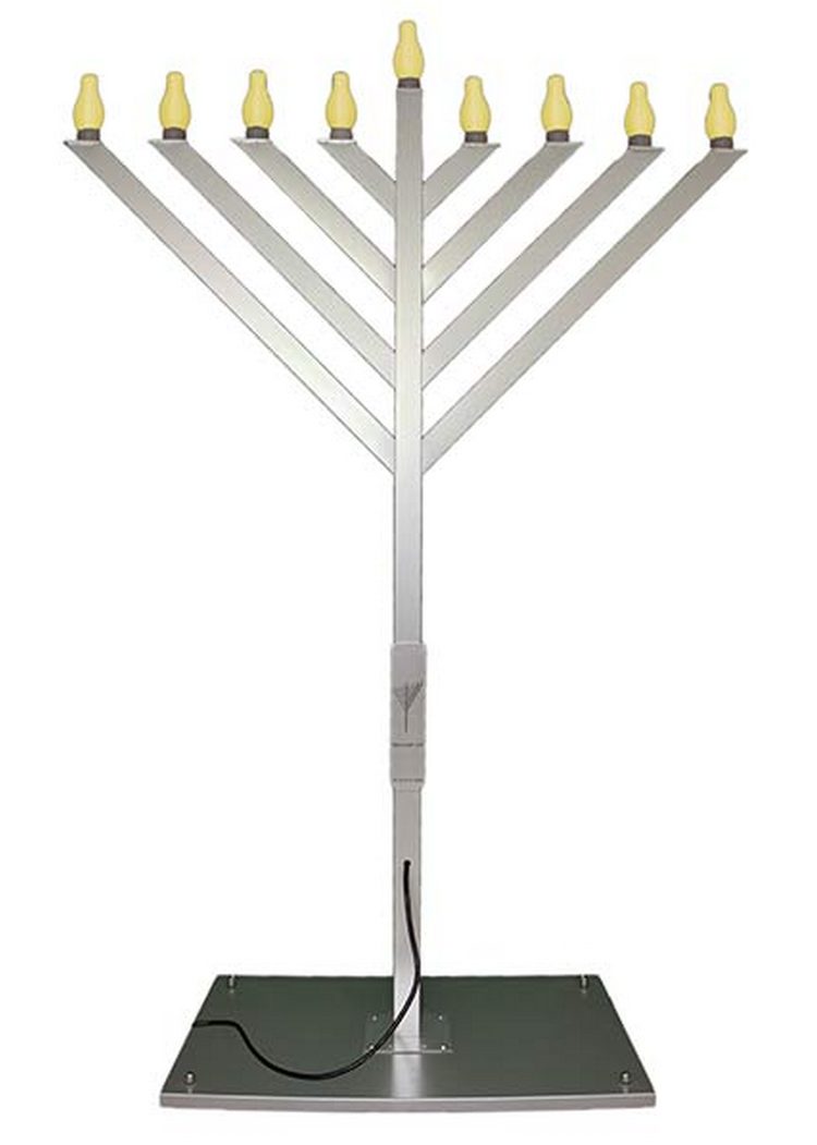 Giant Electric Display Menorah - 6 Feet