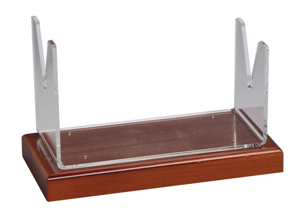Wooden Base Shofar Stand - Large