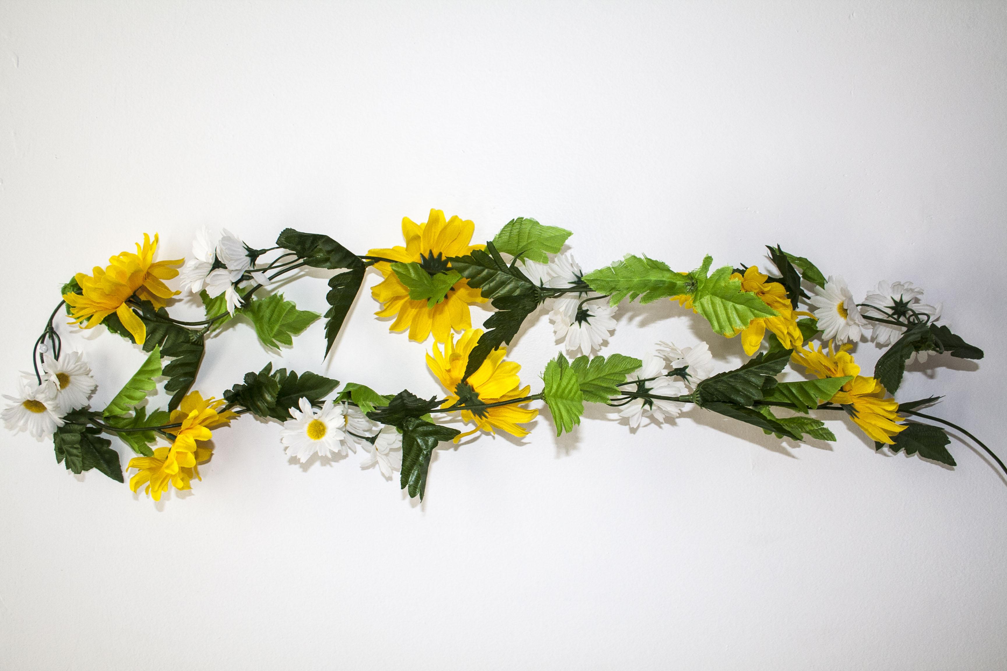 Silk yellow flower garland mightylinksfo