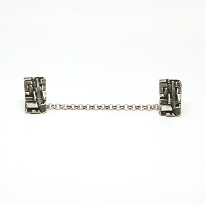 Western Wall Pewter Tallit Clips