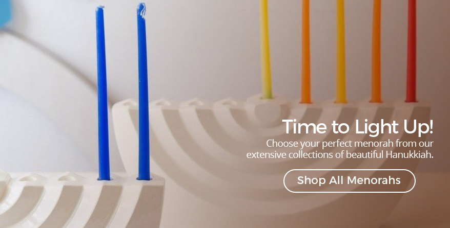 Shop all our beautiful Hanukkah menorahs at Judaica.com!