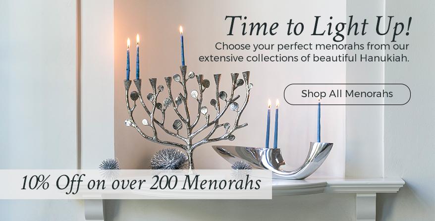 Menorahs and hanukkiahs for hanukkah judaica shop all our beautiful hanukkah menorahs at judaica m4hsunfo