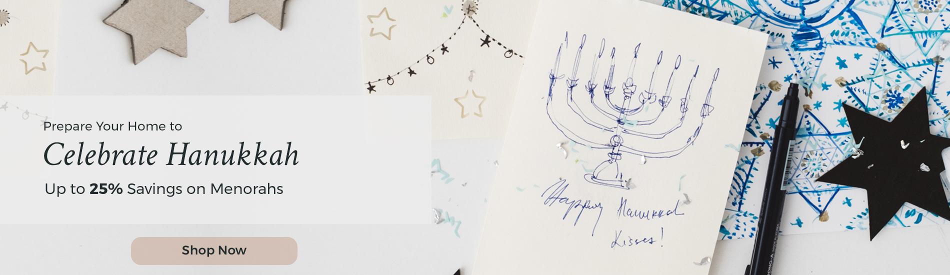 Shop Hanukkah Menorahs for up to 25% Off at Judaica.com!