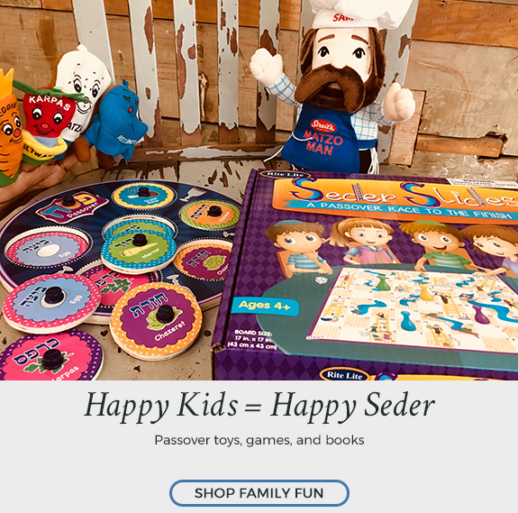Shop Passover for Kids Now at Judaica.com